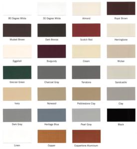 Seamless Gutter Color Chart