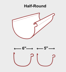 Half Round Seamless Gutter Illustration